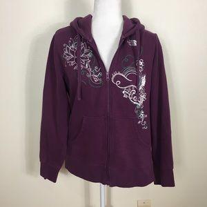 The North Face Plum Purple Zip Up Sweatshirt